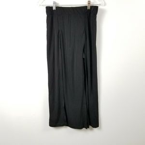 Rocco Womens Skirt Large L Black Layered